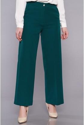 Zemin Giyim Kadın Bol Paça Kumaş Pantolon-027