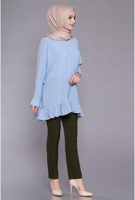 Zemin Giyim Kadın Boru Paça Pantolon-2100