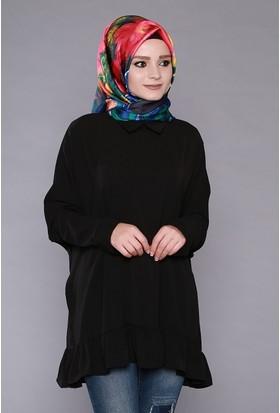 Zemin Giyim Fırfırlı Tunik-5012