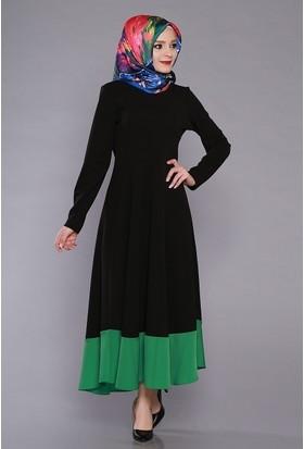 Zemin Giyim Kadın Etekleri Volanlı Düz Elbise-2351