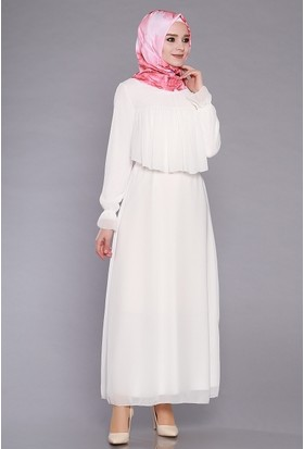 Zemin Giyim Kadın Göğsü Fırfırlı Elbise-703