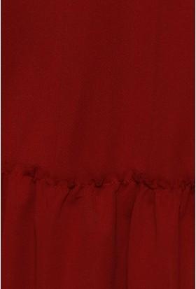 Zemin Giyim Kadın Gömlek Yakalı Fırfırlı Elbise-303