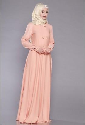 Zemin Giyim Kadın Omuz Dantelli Elbise-1120
