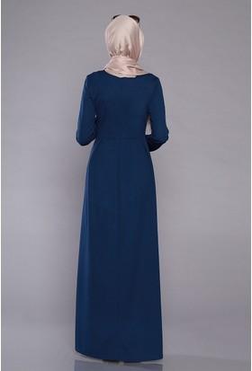 Zemin Giyim Kadın Pileli Düz Elbise-304