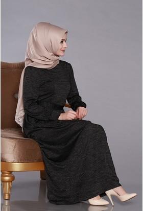 Zemin Giyim Kadın Simli Elbise-4053