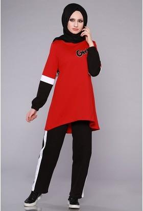 Zemin Giyim Kolları Şeritli Eşofman Takımı-2341