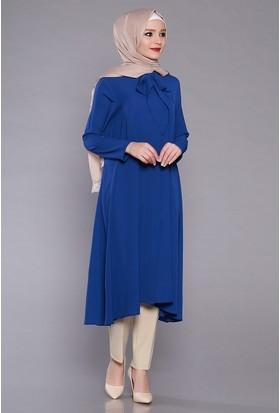 Zemin Giyim Kravatlı Simetrik Tunik-2097