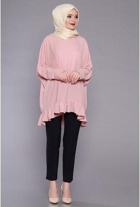 Zemin Giyim Kadın Kuşaklı Boru Paça Pantolon-5099