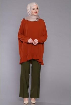 Zemin Giyim Kadın Lastikli Bol Paça Pantolon-5102