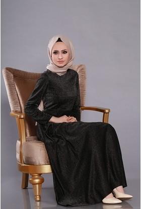 Zemin Giyim Simli Kuyruklu Elbise-101