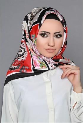 Zemin Giyim Dijital Tivil Çiçekli Eşarp-6-20