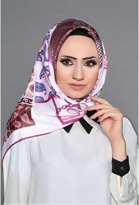 Zemin Giyim Dijital Tivil Otantik Desenli Eşarp-6-18