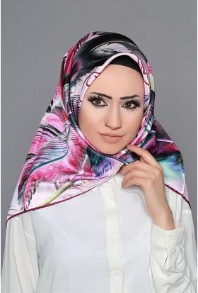 Zemin Giyim Dijital Tivil Tüy Desenli Eşarp-6-21