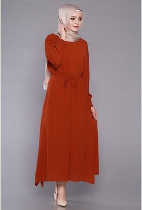 Zemin Giyim Kadın Belden Lastikli Elbise-5013