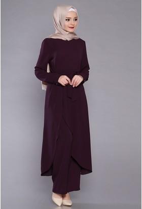 Zemin Giyim Önden Yırtmaçlı Takım-5011