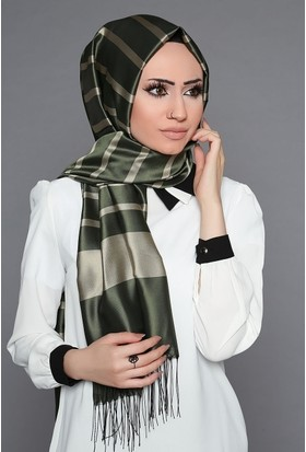 Zemin Giyim Kalın Şeritli Tafta Şal-3-10