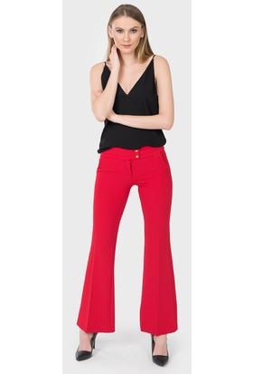 İroni Çıtçıtlı Kırmızı Kumaş Pantolon 1690891 Kırmızı