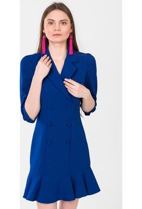 İroni Volanlı Blazer Elbise 5131891A Saks
