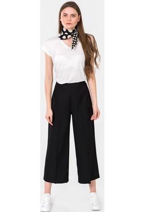 İroni Yüksek Bel Crop Pantolon 16661220 Siyah