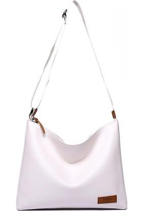 Jacquline Kadın Askılı Çanta Beyaz