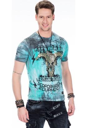 Cipo&Baxx Ct404 Mint Erkek T-Shirt