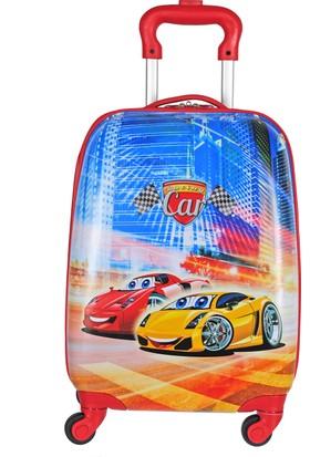 Nk Çocuk Valiz Racing Cars NKVLZ-2303 Lacivert Kırmızı