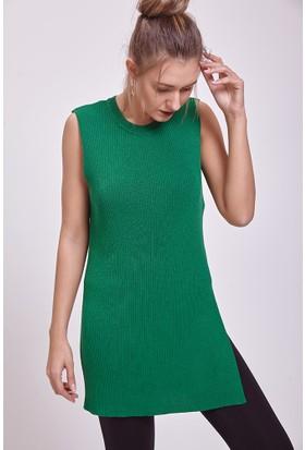 Efgima Kadın Triko Tunik Yeşil
