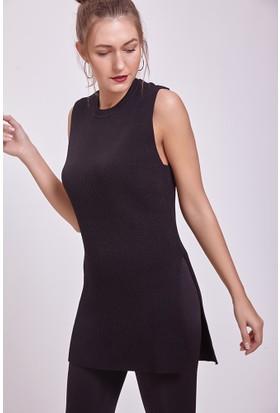 Efgima Kadın Triko Tunik Siyah