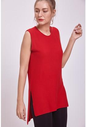 Efgima Kadın Triko Tunik Kırmızı