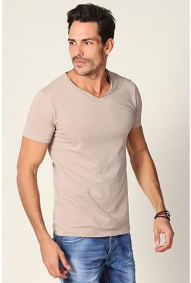 Philip Loren Vizon V Yaka T-Shirt Ce18B7105R03