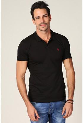 Philip Loren Siyah Logolu Polo Yaka T-Shirt Wp18B8039R01