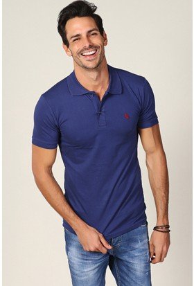 Philip Loren İndigo Logolu Polo Yaka T-Shirt Wp18B8039R02
