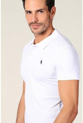 Philip Loren Beyaz Logolu Polo Yaka T-Shirt Wp18B8039R03
