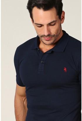 Philip Loren Lacivert Logolu Polo Yaka T-Shirt Wp18B8039R04