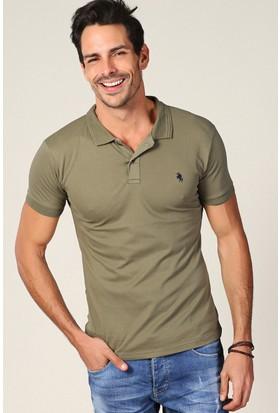Philip Loren Haki Logolu Polo Yaka T-Shirt Wp18B8039R07