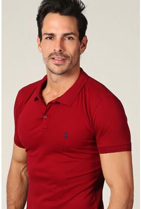Philip Loren Bordo Logolu Polo Yaka T-Shirt Wp18B8039R10