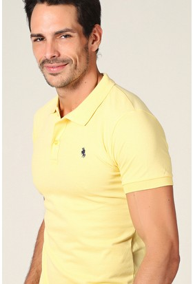 Philip Loren Sarı Logolu Polo Yaka T-Shirt Wp18B8039R11