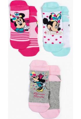 Minnie Mouse Disney Çocuk 3'Lü Çorap 13010