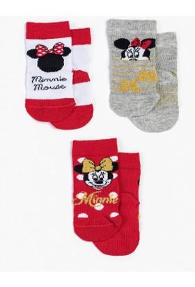 Disney Minnie Mouse Bebek 3'lü Çorap 13012