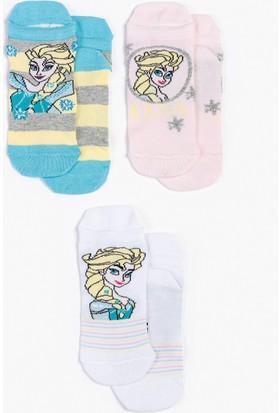 Minnie Mouse Disney Frozen Çocuk 3'Lü Çorap 13006