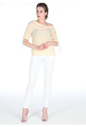 Gabbia Club Beyaz Pantolon 1227