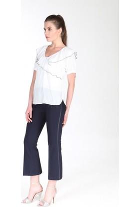 Gabbia Club Beyaz Bluz 1204