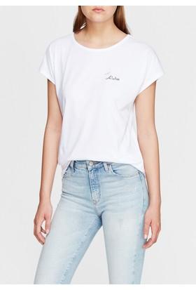 Mavi Kadın Aloha Baskılı Beyaz Tshirt