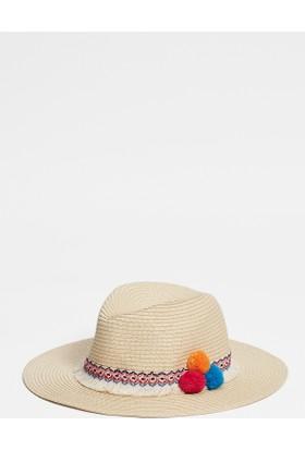 Mavi Kadın Bej Şapka