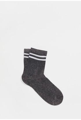 Mavi Kadın Gri Çorap