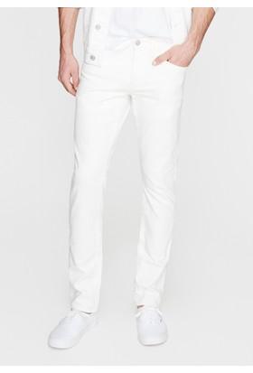 Mavi Erkek James Beyaz Comfort Jean Pantolon