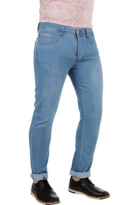Brango 55135-2 Dar Kesim Buz Mavi Kot Pantolon
