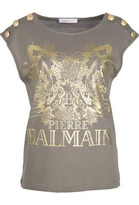 Pierre Balmain Kadın T-Shirt FP68223TA8286