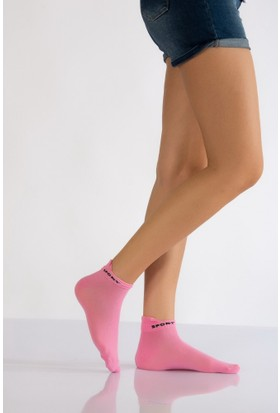 Lateks Kadın Spor Çorabı Üçlü Paket
