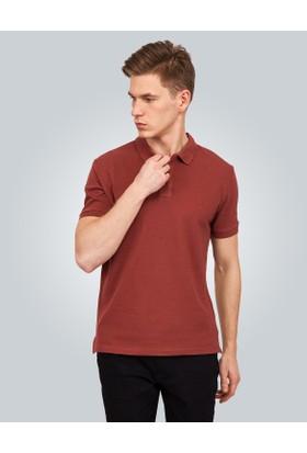 Tudors Kahverengi Düz Pike Erkek T Shirt 13869